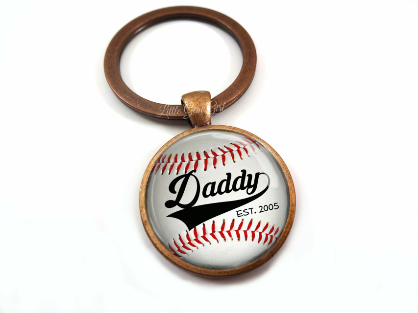 Custom Grandpa Established Key Chain with Kids Names