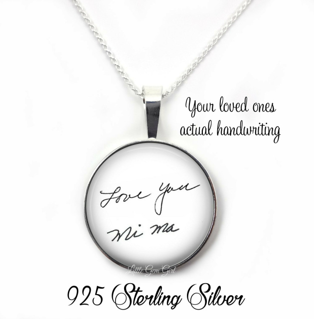 memorial signature handwriting jewelry