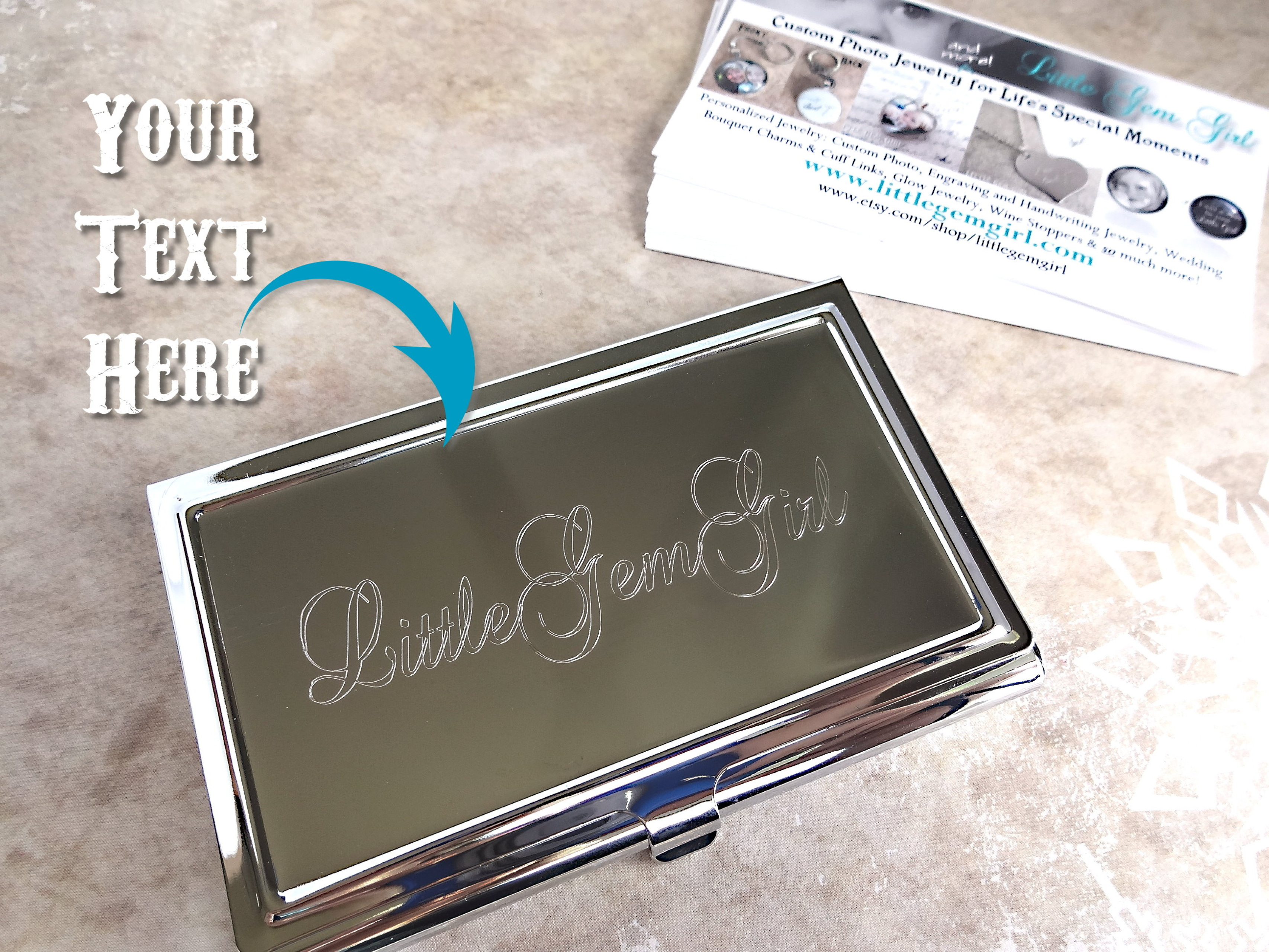Custom Engraved Business Card Holder - Personalized with your Name ...