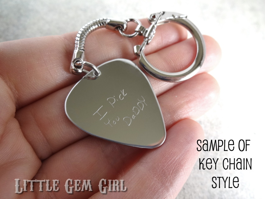 Double Sided Engraved Custom Text Guitar Pick - Personalized