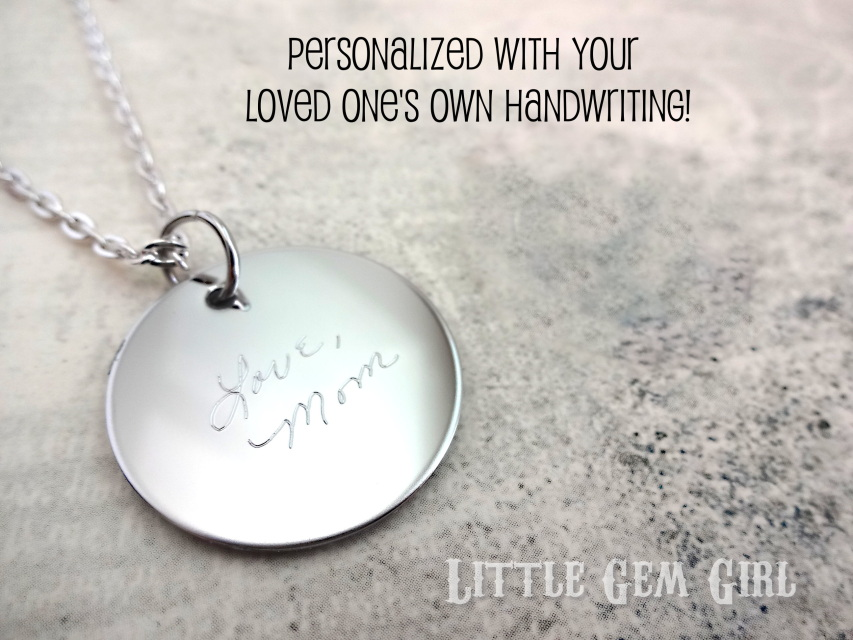 Stainless Steel Engraved Custom Handwriting Necklace