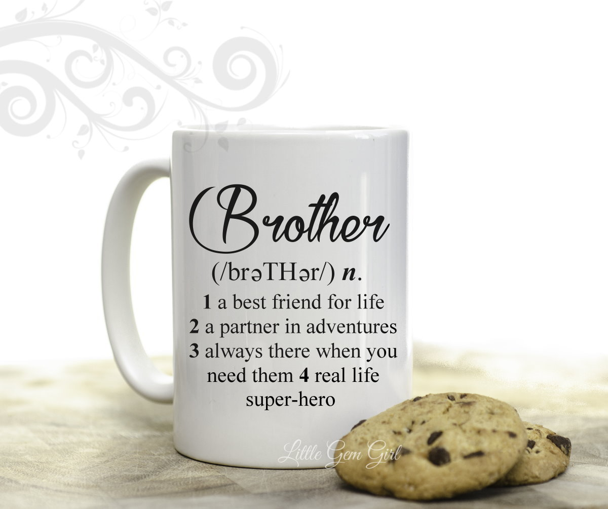 Brother Coffee Mug with Dictionary Definition 15 ounce 2 Sided Cup ...